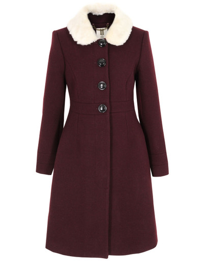 Orla-Kiely-Womens-Fur-Collar-Burgundy-Coat-1