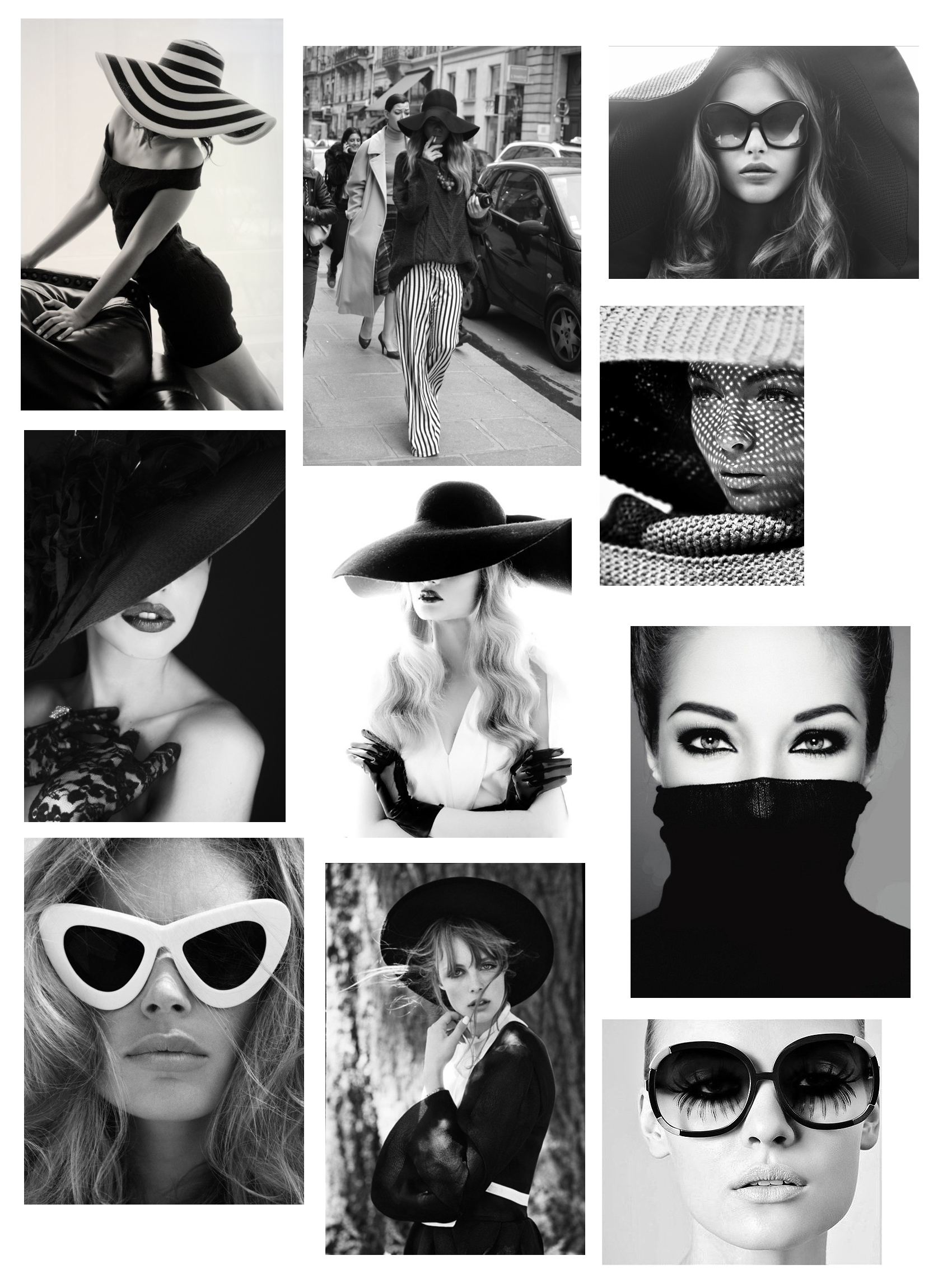 I love black and white photography especially in fashion collage 2 collage