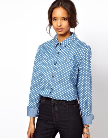 asos denim shirt