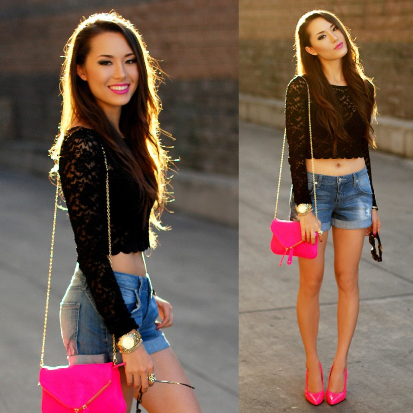 hapa time fashion blogger fuchsia bag