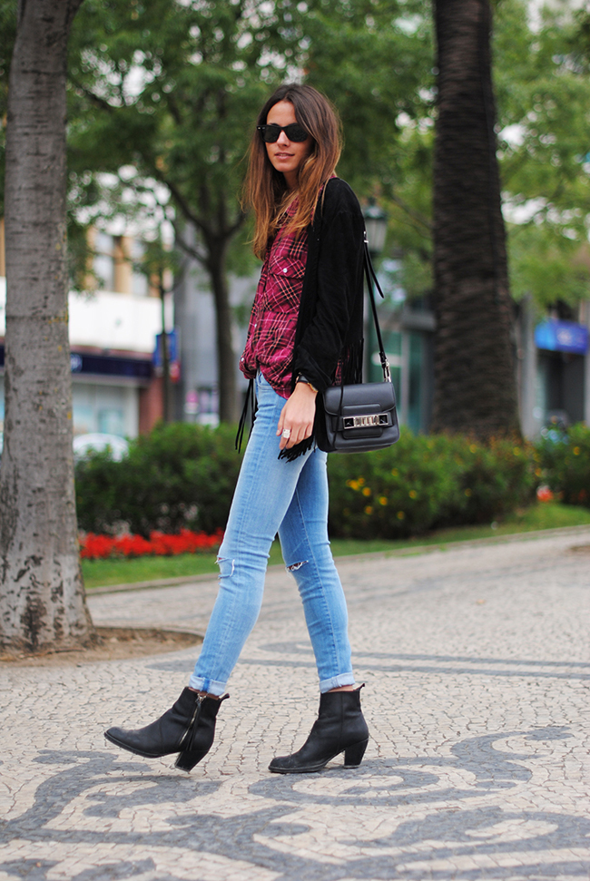 plaid shirt, 7 for all mankind, jeans, lisbon, festival, optimus, zina, fashionvibe