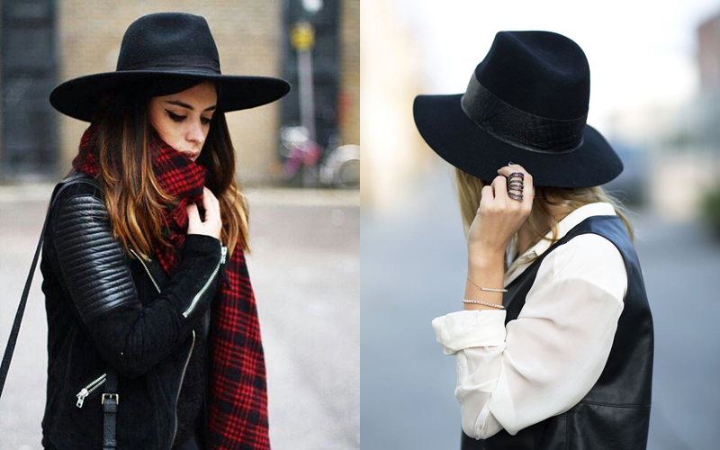 black hat autumn look